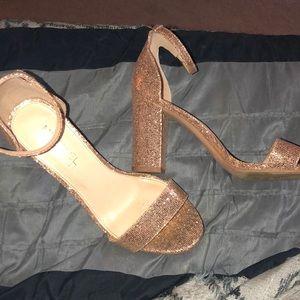 Gold Michael Shannon heels
